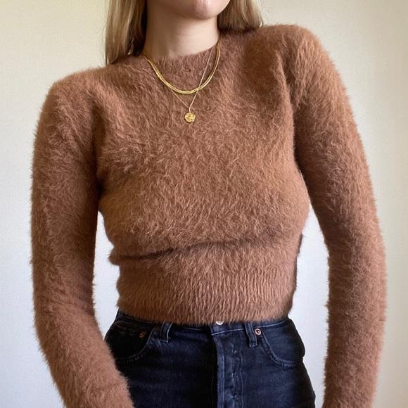 Zara Fuzzy Teddy Sweater